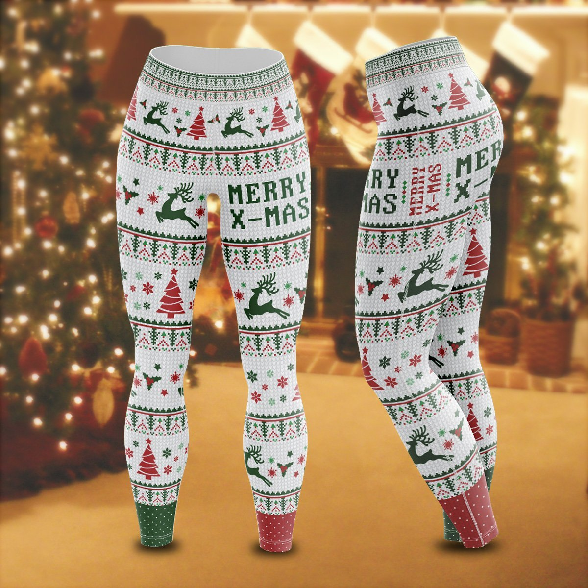 Merry Xmas Unisex Tights S Leggings