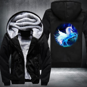 Mystical Unicorn Fleece Jacket Black / S