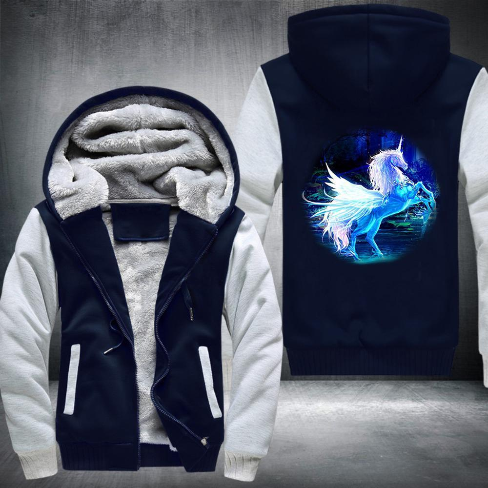 Mystical Unicorn Fleece Jacket Blue / S