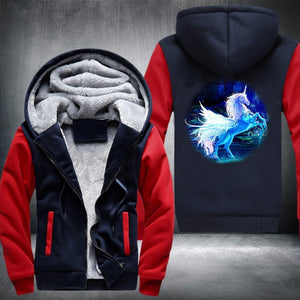 Mystical Unicorn Fleece Jacket Red / S