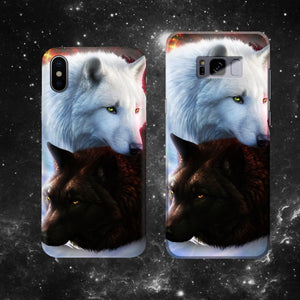 Yin Yang Fire Ice Wolves Phone Case