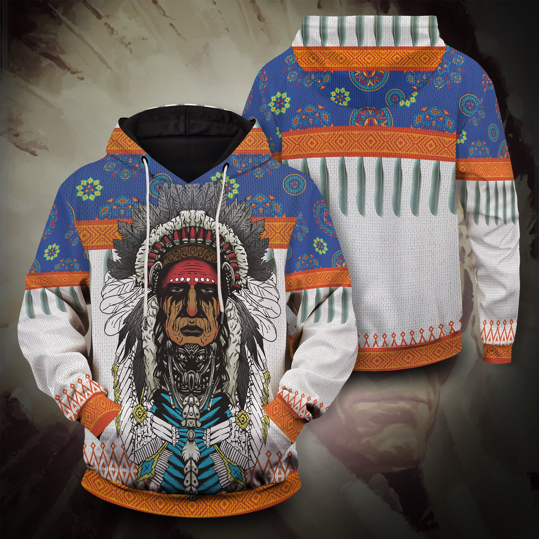 American Native Chieftain Unisex Pullover Hoodie
