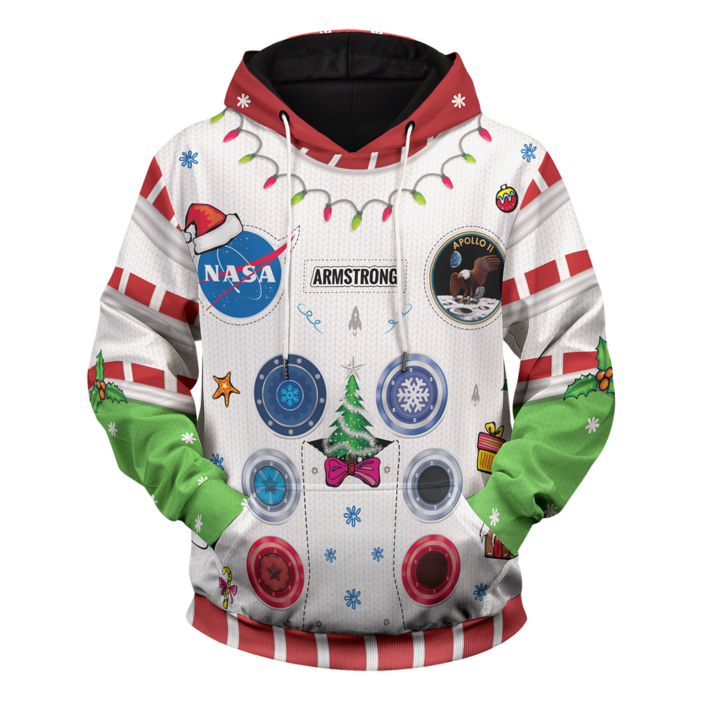 Armstrong Space Suite Christmas Unisex Pullover Hoodie