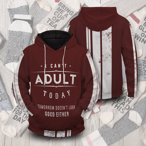 Cant Adult Today Unisex Pullover Hoodie S