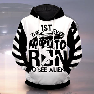 Naruto Run To See Aliens Unisex Pullover Hoodie