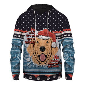 Santa Paws Is Coming To Town Unisex Pullover Hoodie