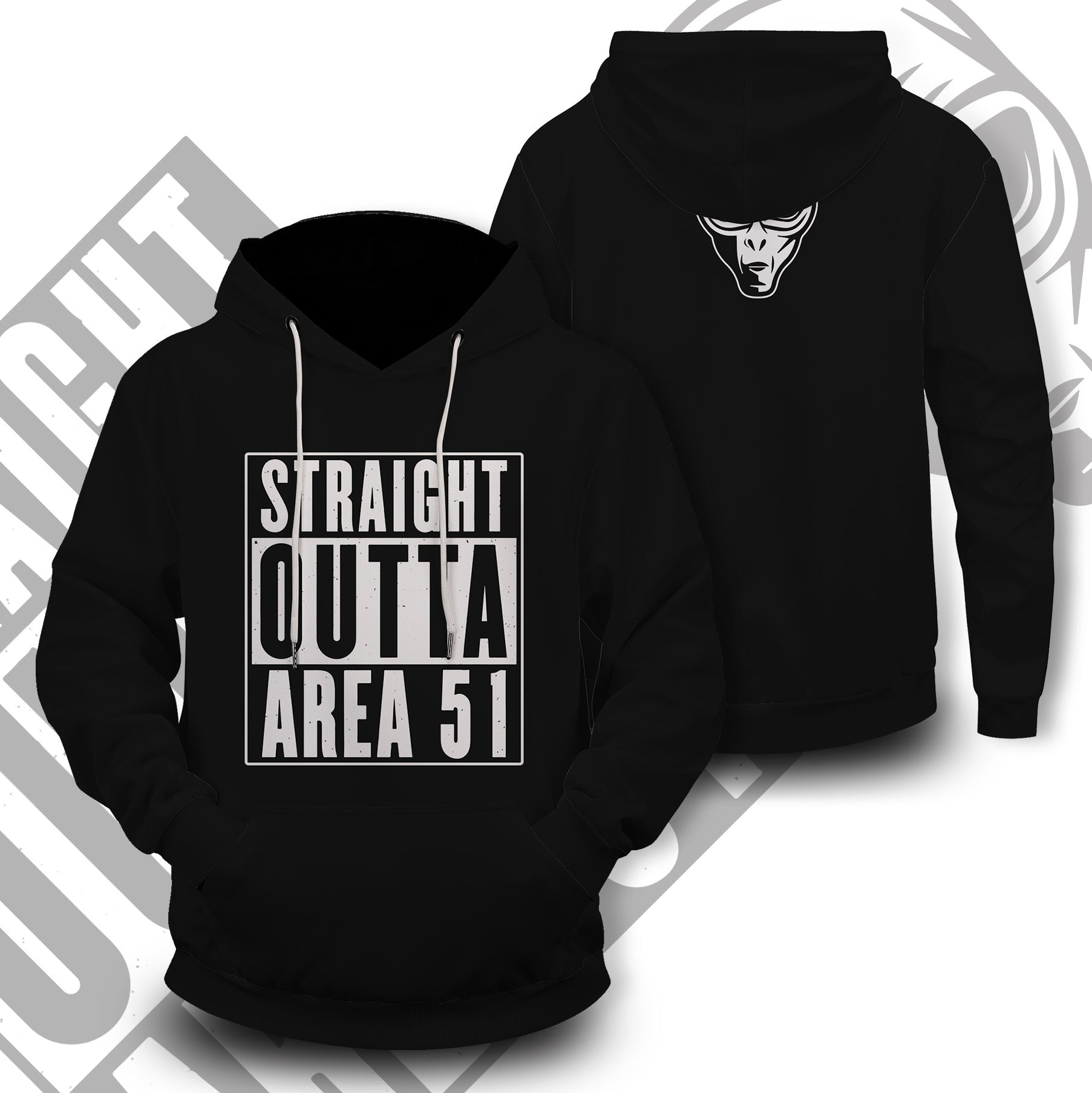 Straight Outta Area 51 Unisex Pullover Hoodie