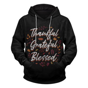 Thankful Grateful Blessed Unisex Pullover Hoodie