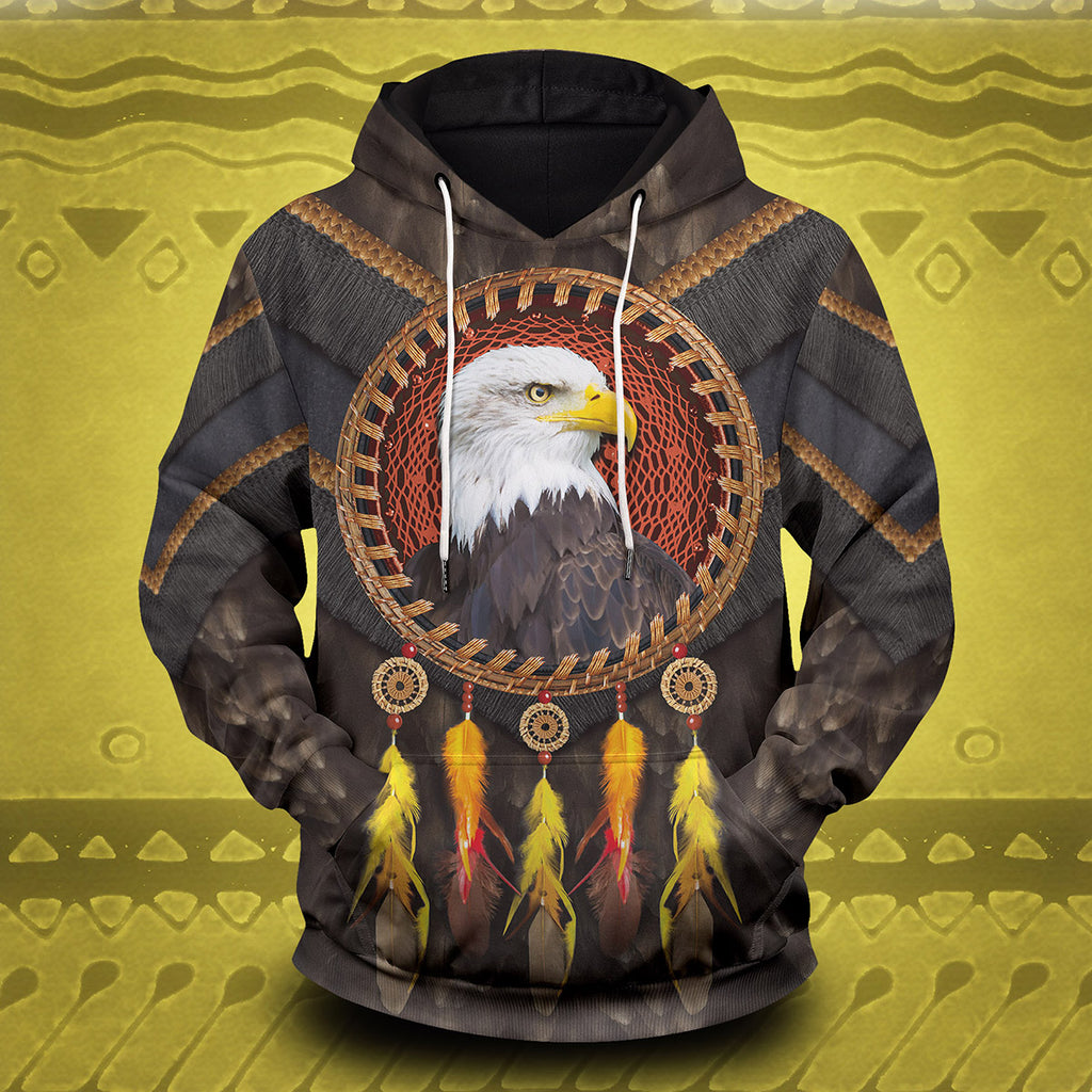Tribal Eagle Dream Catcher Unisex Pullover Hoodie