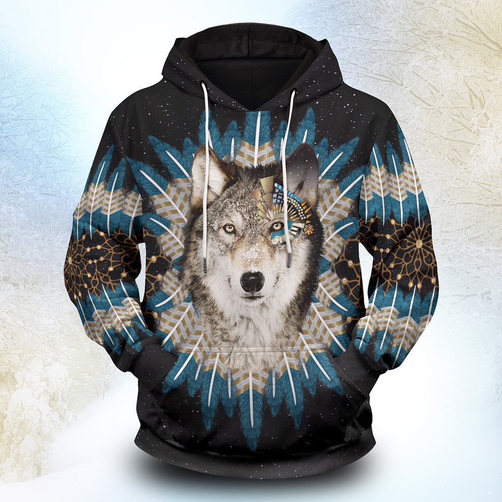Wolf Dream Catcher Unisex Pullover Hoodie