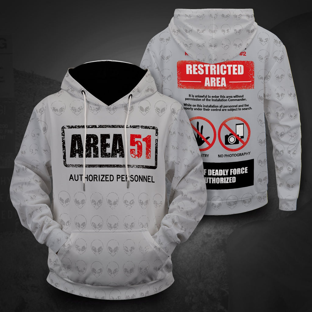 Area 51 Authorized Personnel Unisex Pullover Hoodie S
