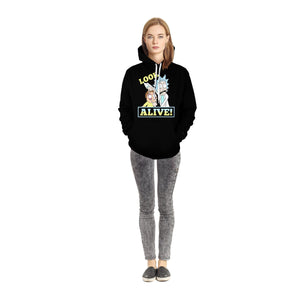 Rick & Morty Peace Ii Unisex Pullover Hoodie