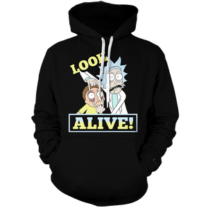 Rick & Morty Peace Ii Unisex Pullover Hoodie M