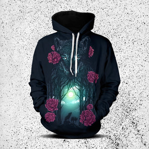 Running With Wolves Unisex Pullover Hoodie M