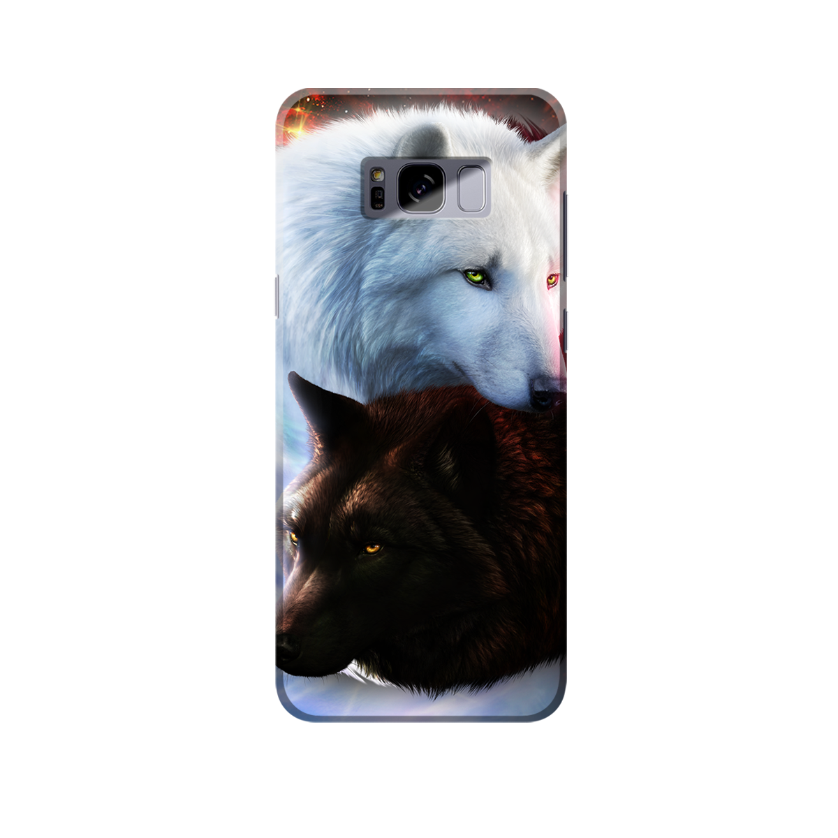 Yin Yang Fire Ice Wolves Phone Case Samsung S7