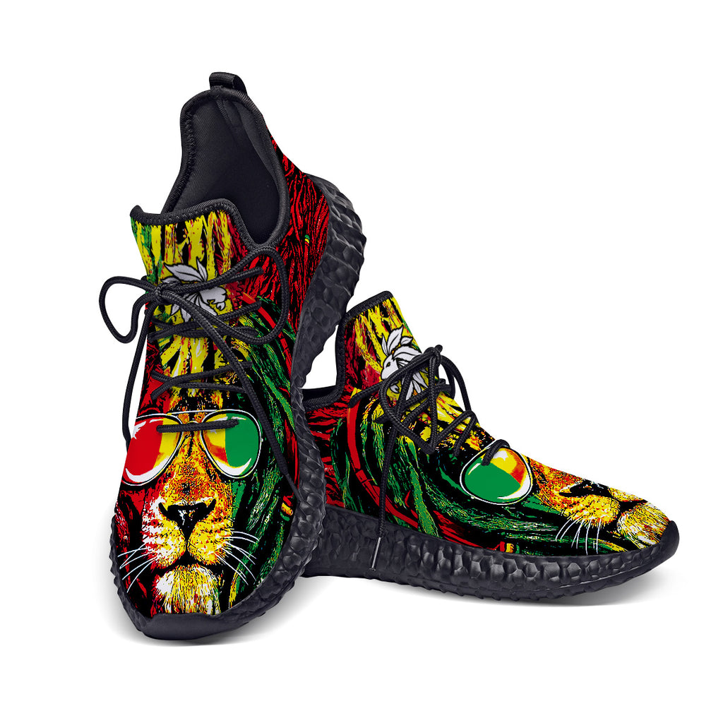 Custom Made Rasta Lion Shoes