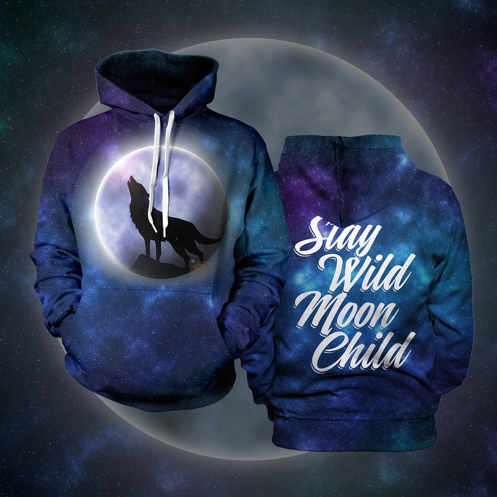 Stay Wild Moon Child Unisex Pullover Hoodie