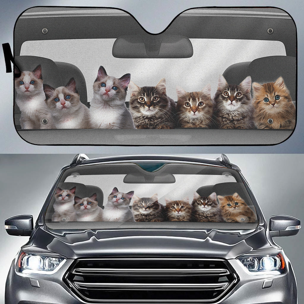 Litter of Cuteness Auto Sun Shade