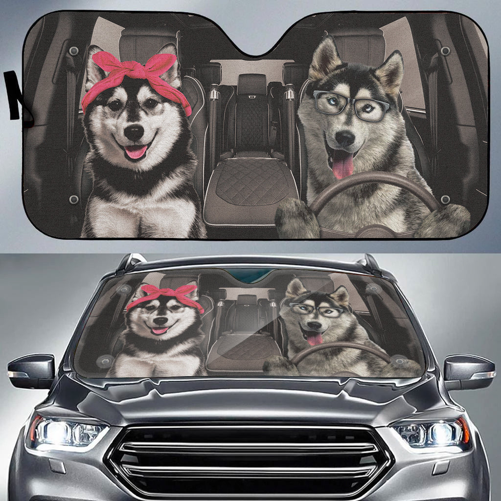 Lovely Husky Auto Sun Shade