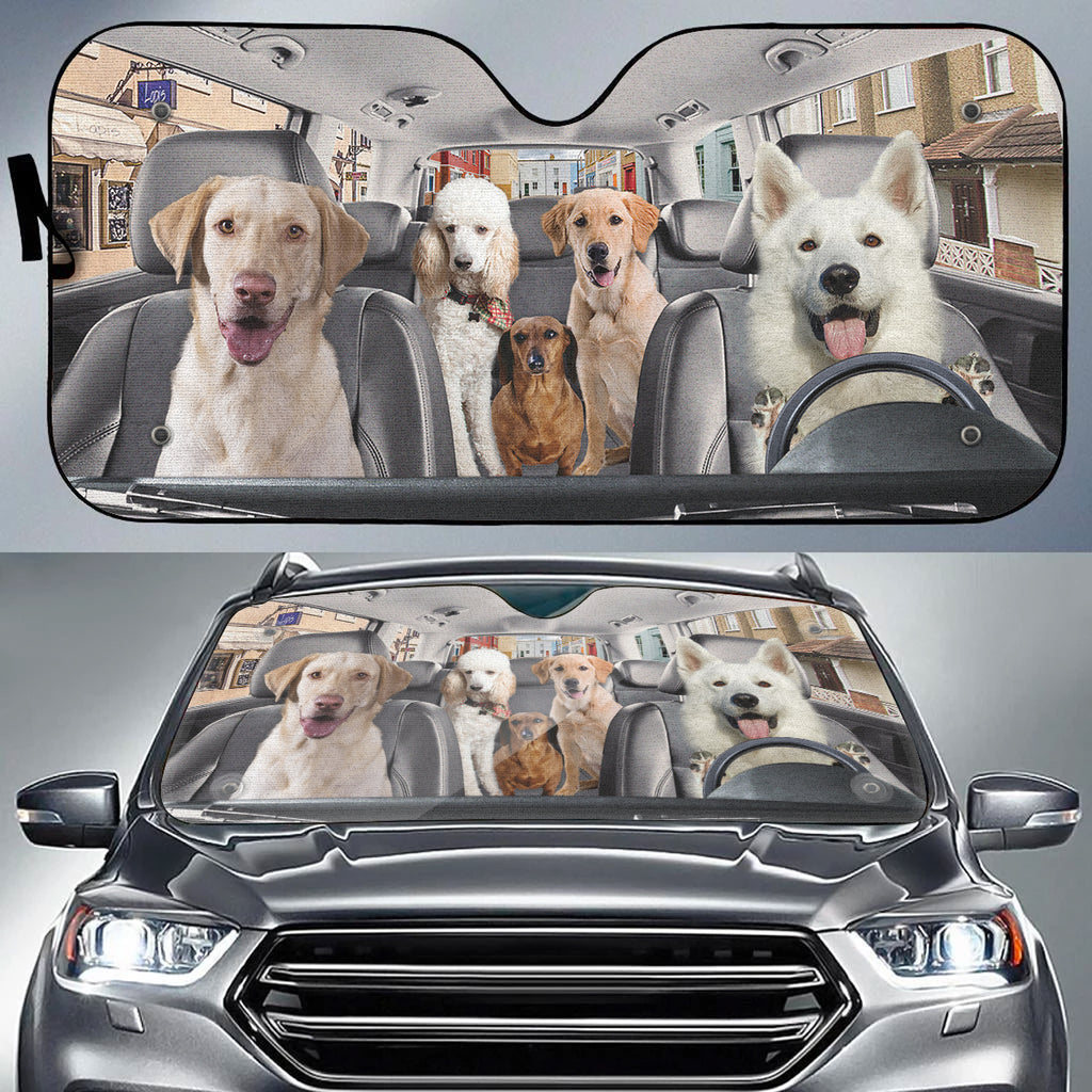 Doggies On Board Auto Sun Shade