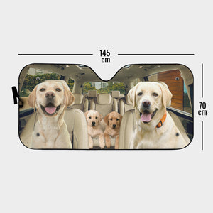 Family Road Trip Auto Sun Shade