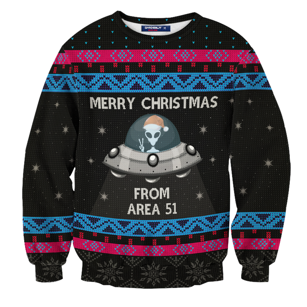 Area 51 Christmas Unisex Sweater