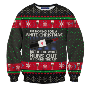 Hoping For Wine Christmas Unisex Sweater