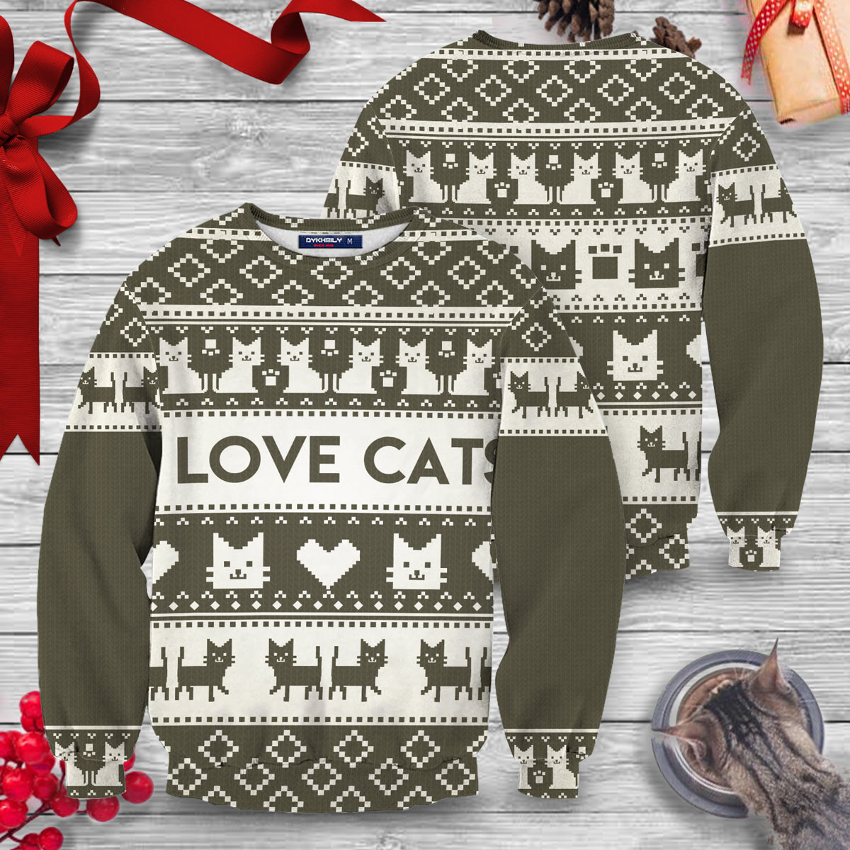 I Love Cats Unisex Sweater