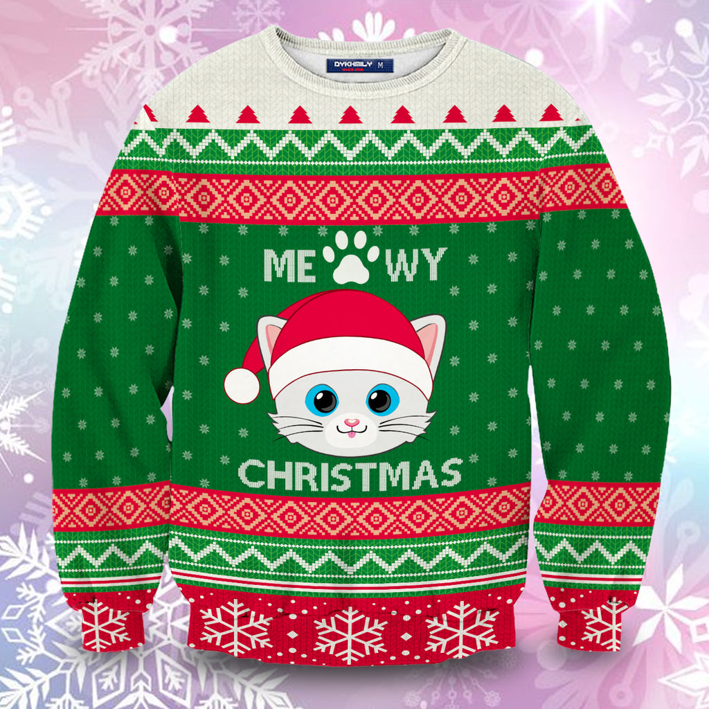 Meowy Christmas Unisex Sweater