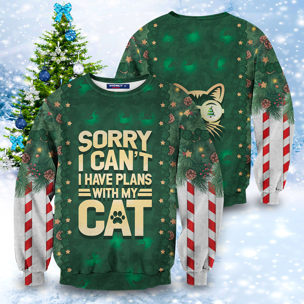 Sorry I Can't I Have Plans With My Cat Unisex Sweater