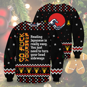 Learn Japanese Christmas Unisex Sweater