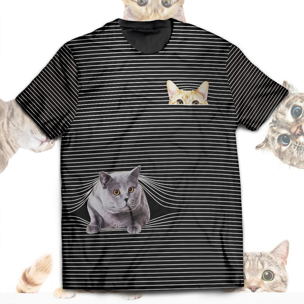 Cat Hide And Seek Unisex T-Shirt
