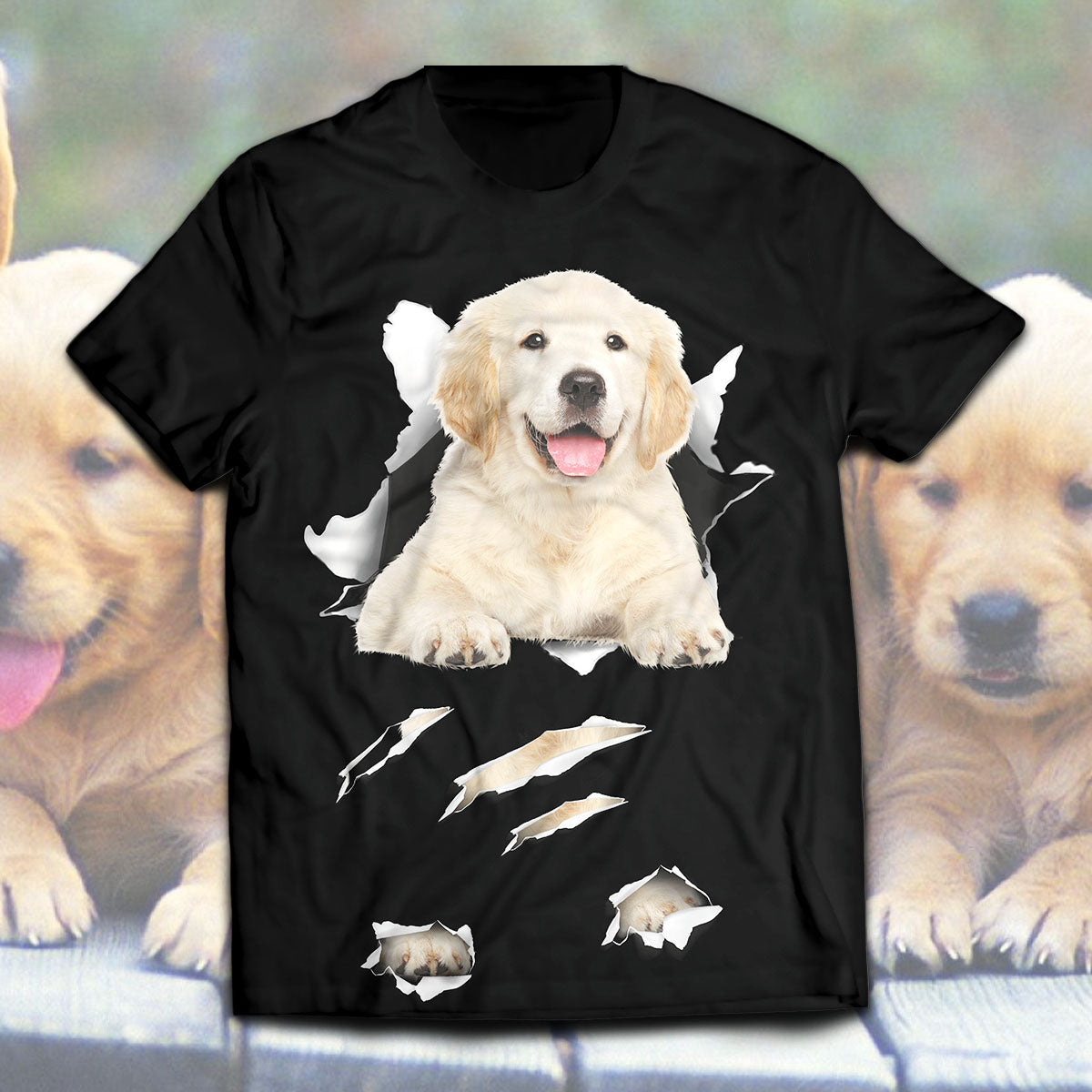 Golden Retriever-Torn Unisex T-Shirt