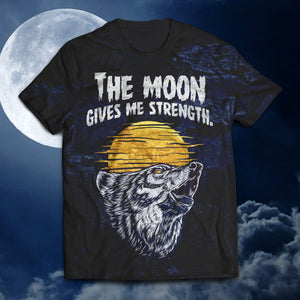 The Moon Gives Me Strength Unisex T-Shirt M