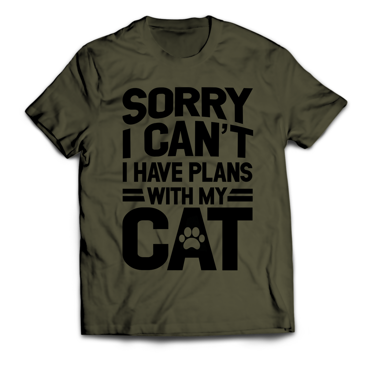 Sorry I Can't I Have Plans With My Cat Unisex T-Shirt