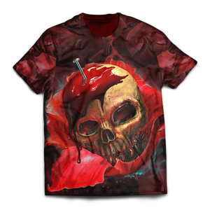 Skull In Red Unisex T-Shirt