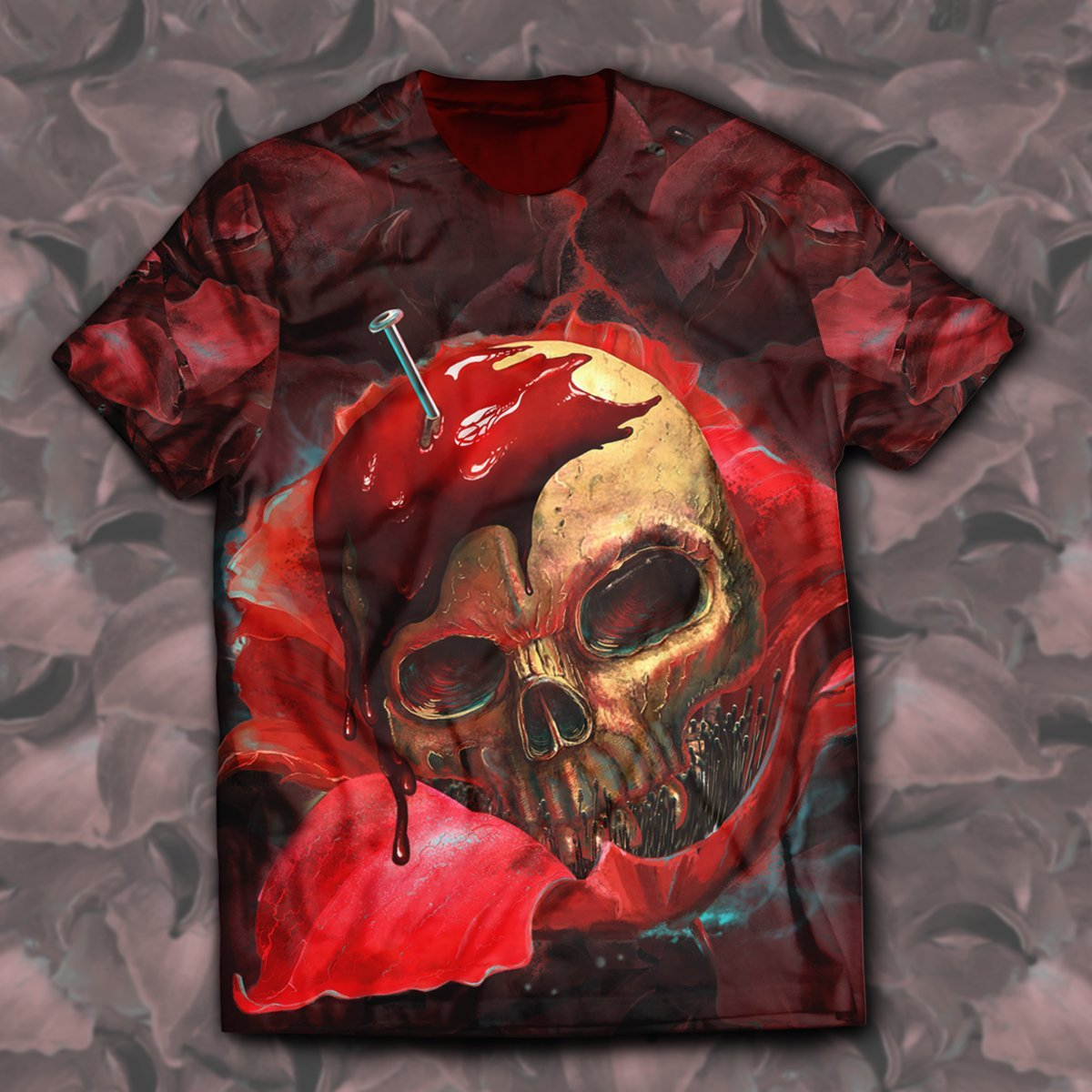 Skull In Red Unisex T-Shirt S