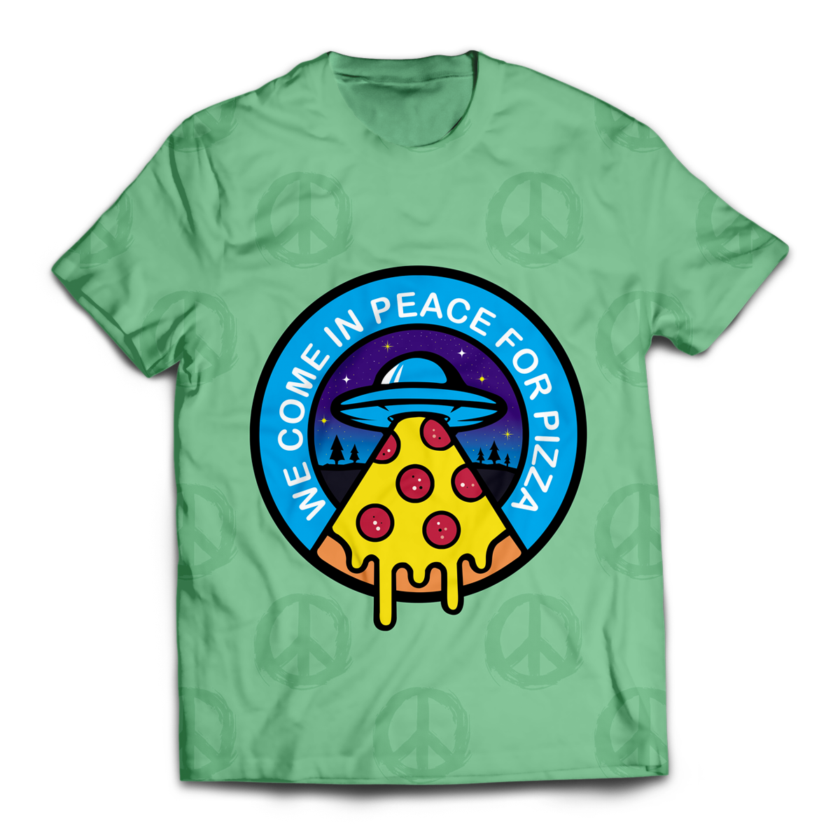 We come in peace for pizza Unisex T-Shirt