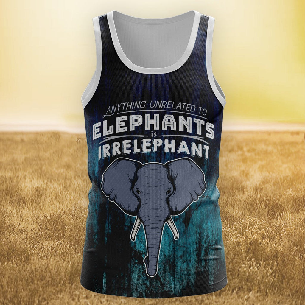 Irrelephant Unisex Tank Tops S Tanktop