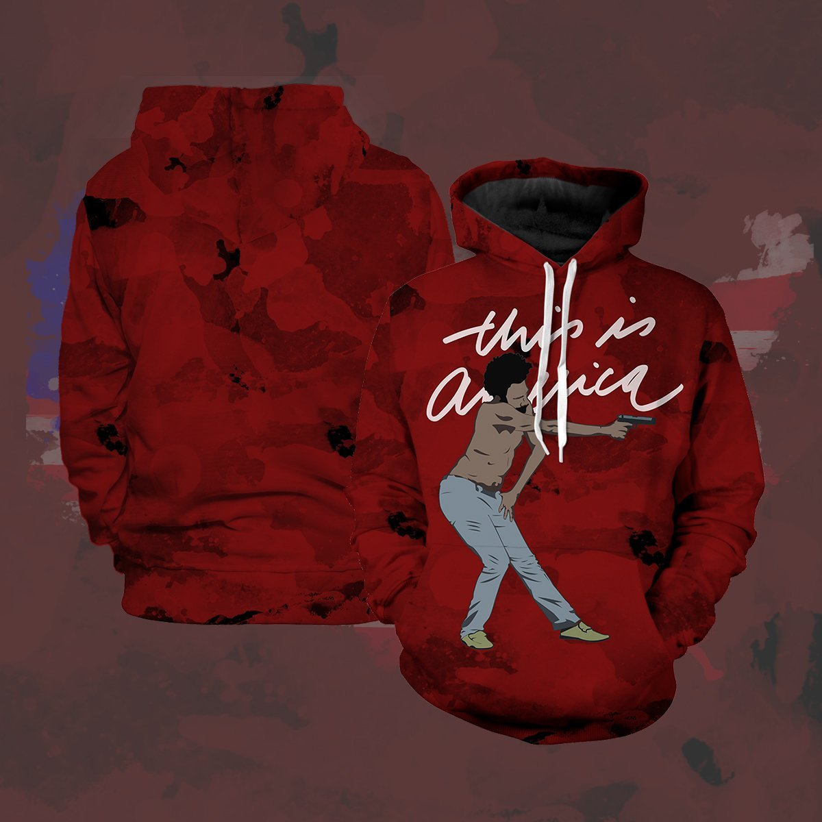 This Is America Unisex Pullover Hoodie S