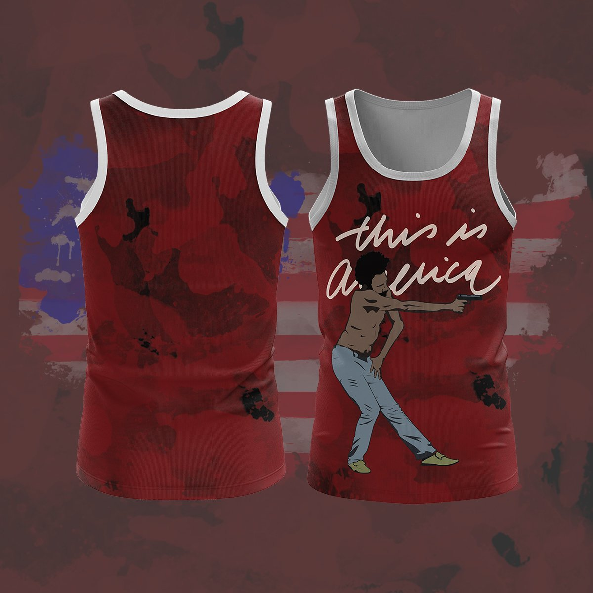 This Is America Unisex Tank Tops S Tanktop