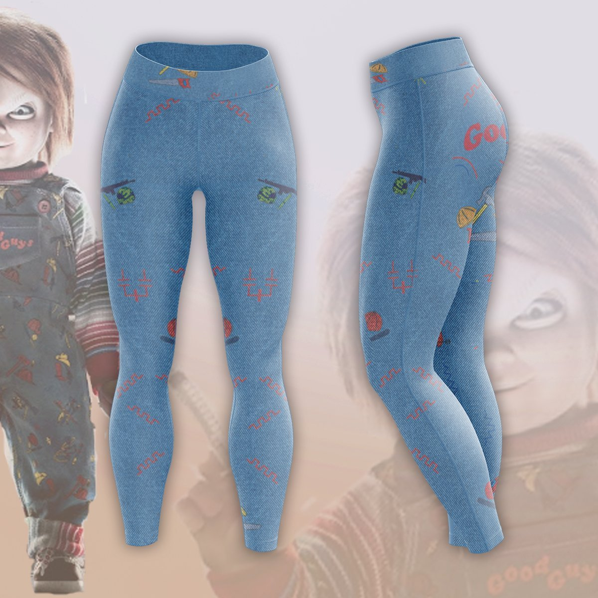 Chucky The Doll Unisex Tights S Leggings