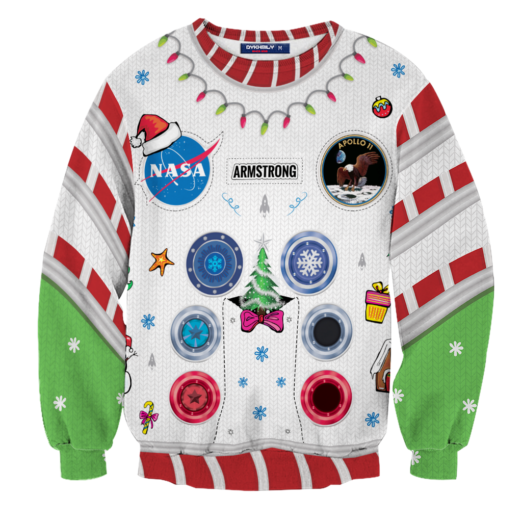 Armstrong Space Suite Christmas Unisex Sweater