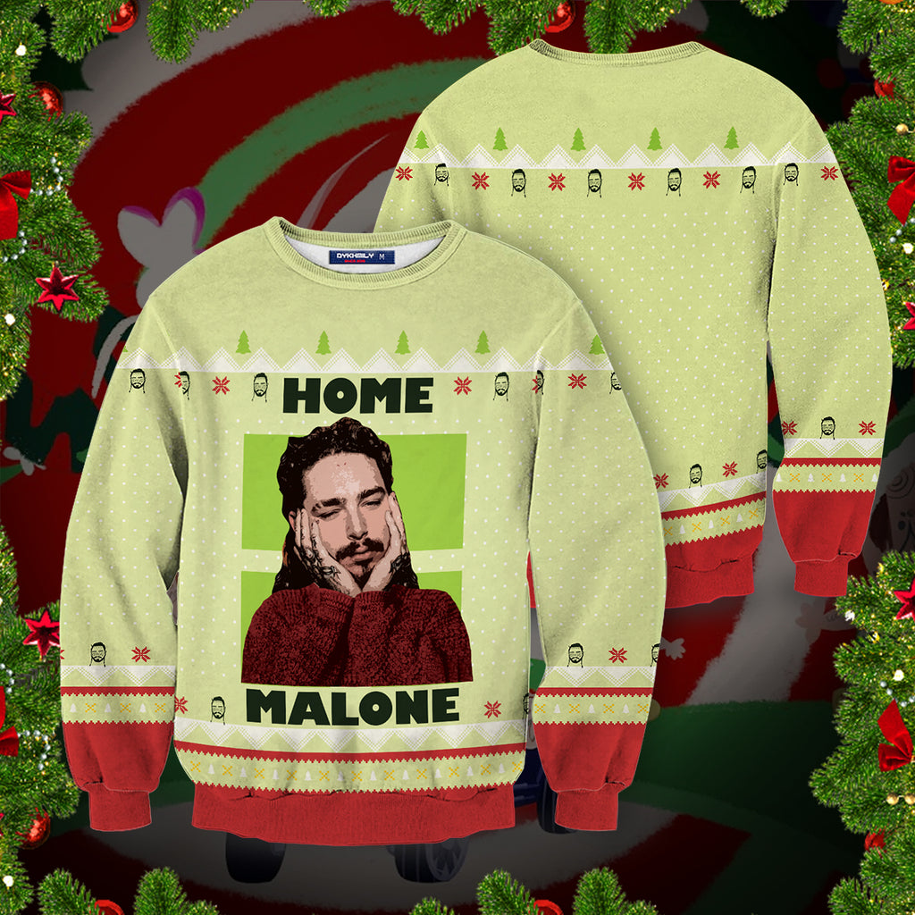 Home Malone Christmas Unisex Sweater