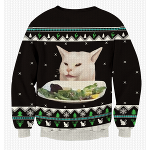 Woman Yelling At The Cat Unisex Sweater