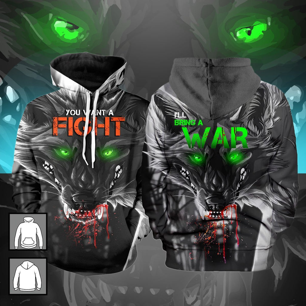 You Want A Fight Ill Bring War Unisex Pullover Hoodie M