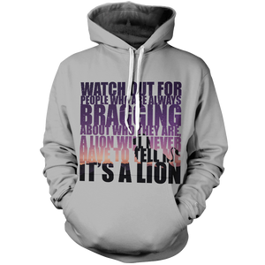 Watch Out Unisex Pullover Hoodie M