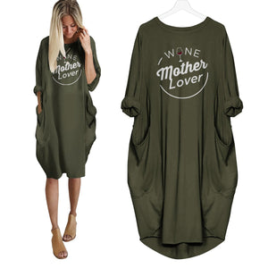 Wine Mother Lover Dress Green / S