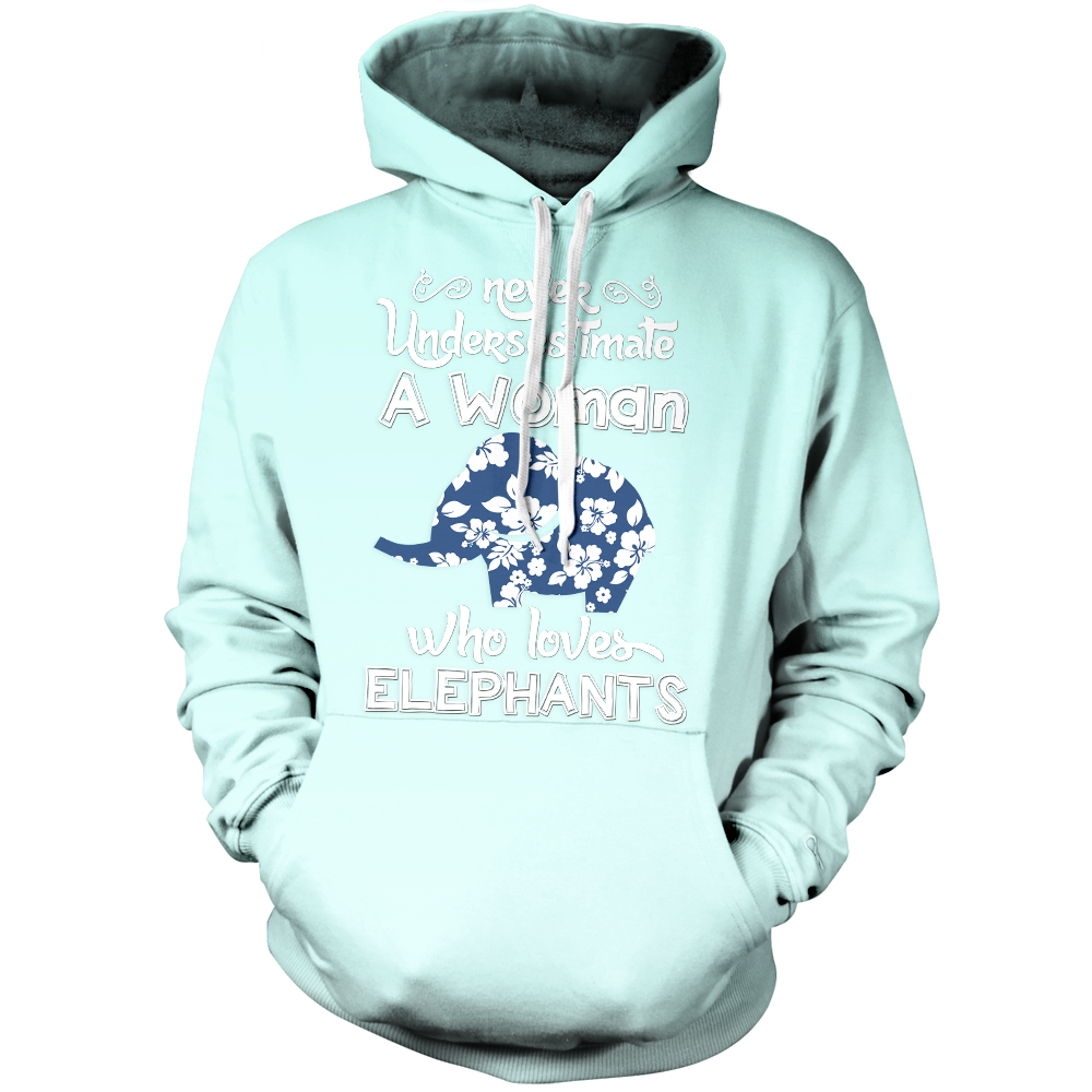 Woman Who Loves Elephant Unisex Pullover Hoodie M