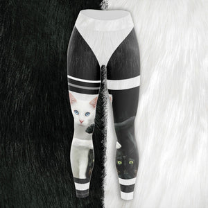 Yin Yang Cats Unisex Tights S Leggings